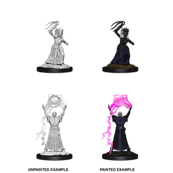 D&D Nolzur's Marvellous Miniatures - Drow Mage & Drow Priestess