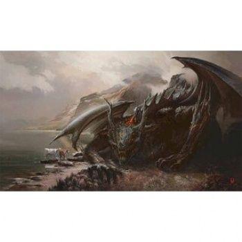 Kraken Wargames Playmat Wolf & Dragon